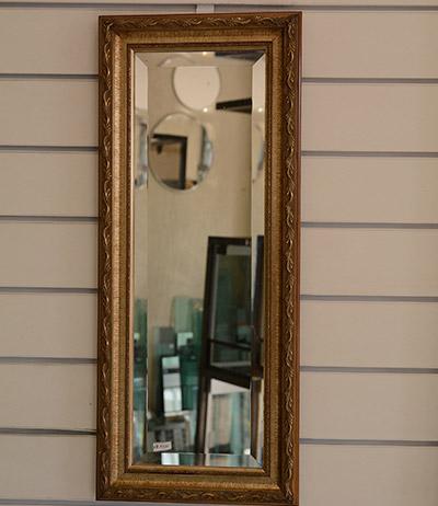 Espelho 4mm bisotado com moldura retrô 1010×280