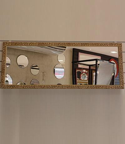 Espelho 4mm com moldura craquelê 1155×450