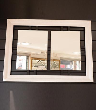 Espelho bisotado 4mm com chassi 850×620