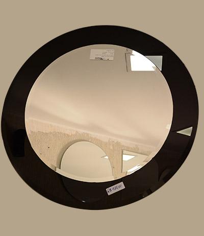 Espelho bisotado 4mm com decore preto 800×800
