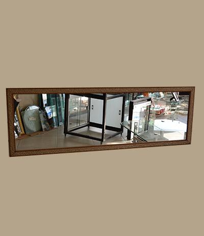 Espelho lapidado 4mm com moldura 1155×450