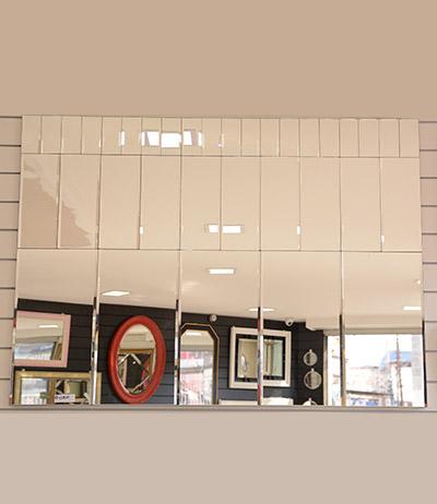 Painel de Espelho 4mm lapidado e bisotado 1385×1000